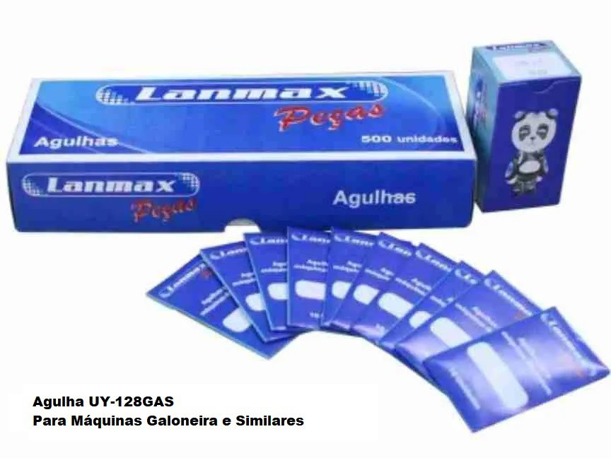 Agulha UY-128GAS LANMAX pacote com 10 agulhas