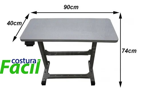 Bancada para máquina de costura Doméstica - Mesinha completa com Gaveta