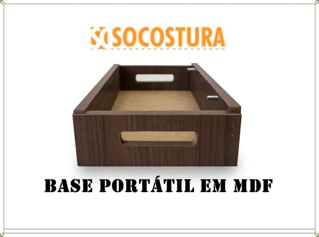 Base / Gabinete portátil para máquina de Costura Domestica SINGER e ELGIN