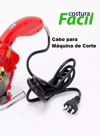 Cabo de Força para máquinas de Corte Direct Drive- Plug 3 Pinos 10 Amperes 2,30mts.