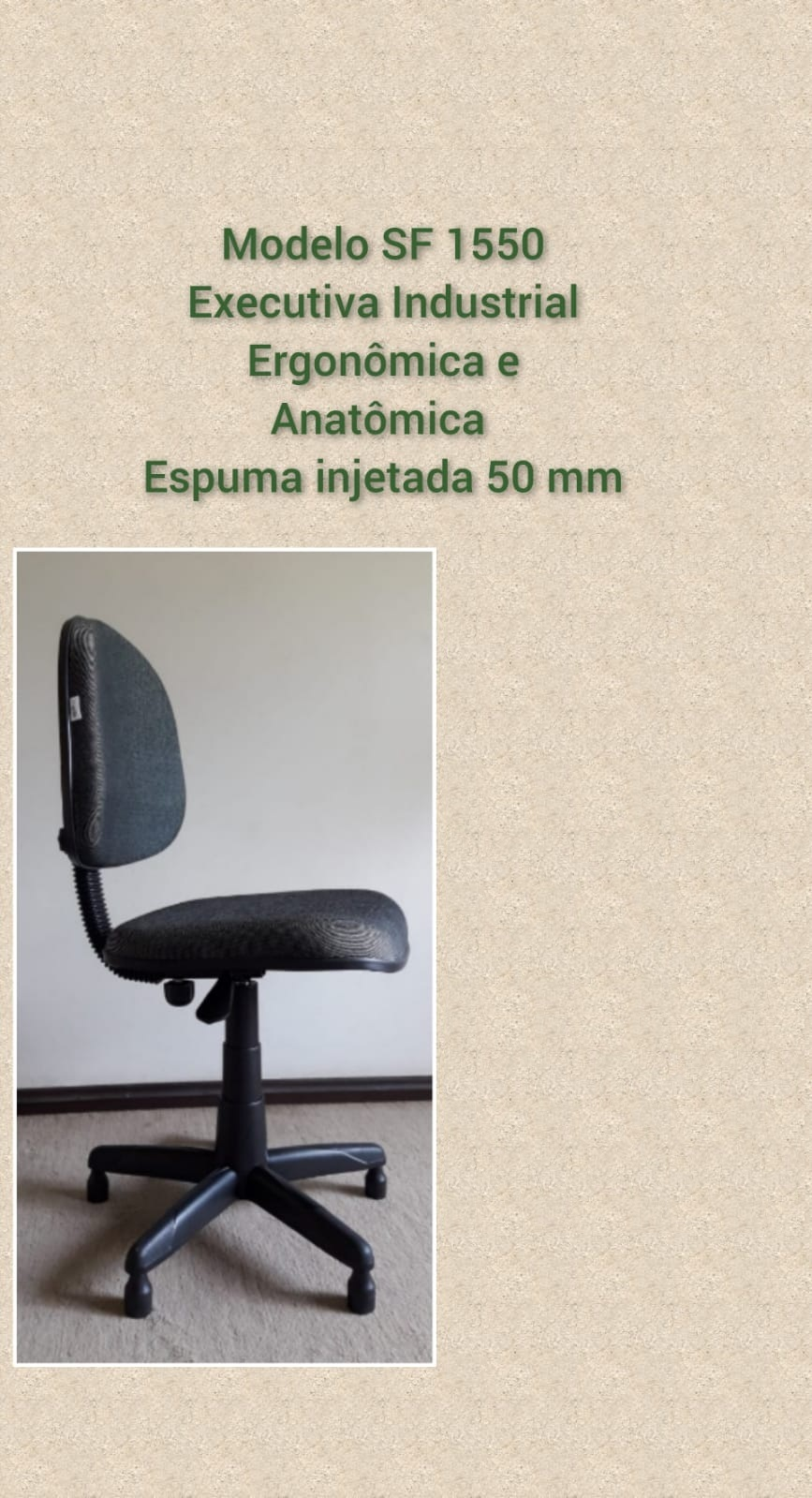 Cadeira para Costura - Modelo Executiva industrial