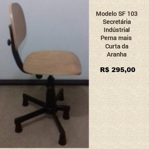 Cadeira para Costura - Modelo Executiva industrial Madeira com perna frontal mais curta