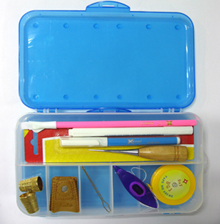 Caixa dupla com 10 compartimentos - Ideal para Acessórios, Peças, Artesanatos, Quilt&Patchowork