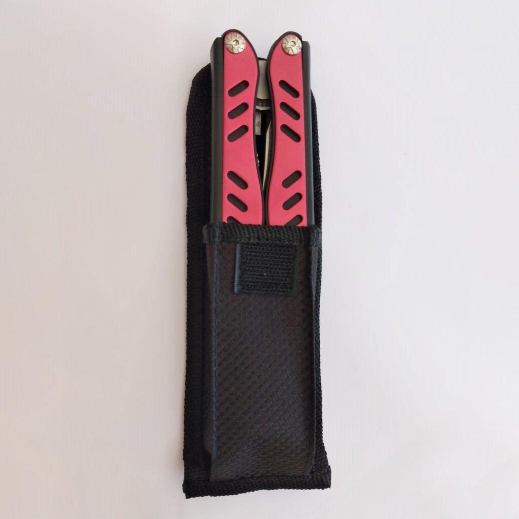 Canivete com 8 Aplicações - Alicate, Faca, Abridor, Chave Fenda, Chave Philips + outras funções - Aço Inoxidável