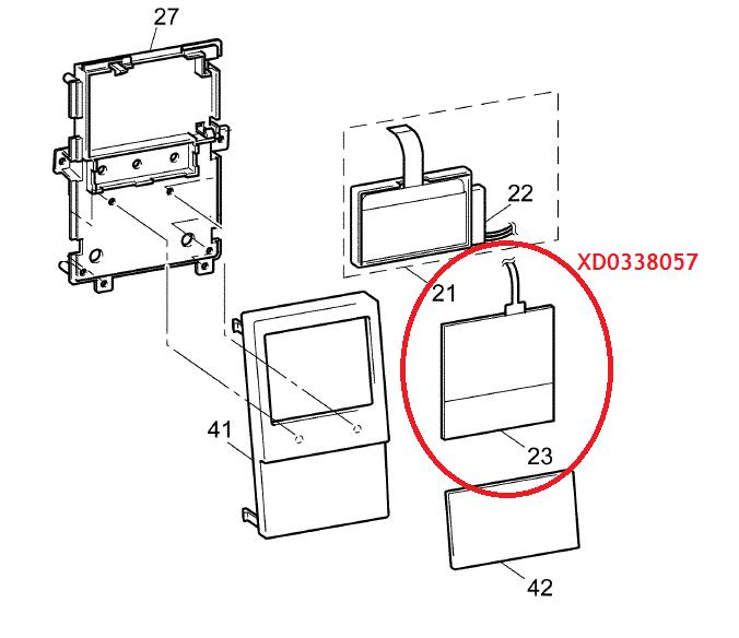 Conjunto do painel de Toque LCD BROTHER PE 770 - XD0338057
