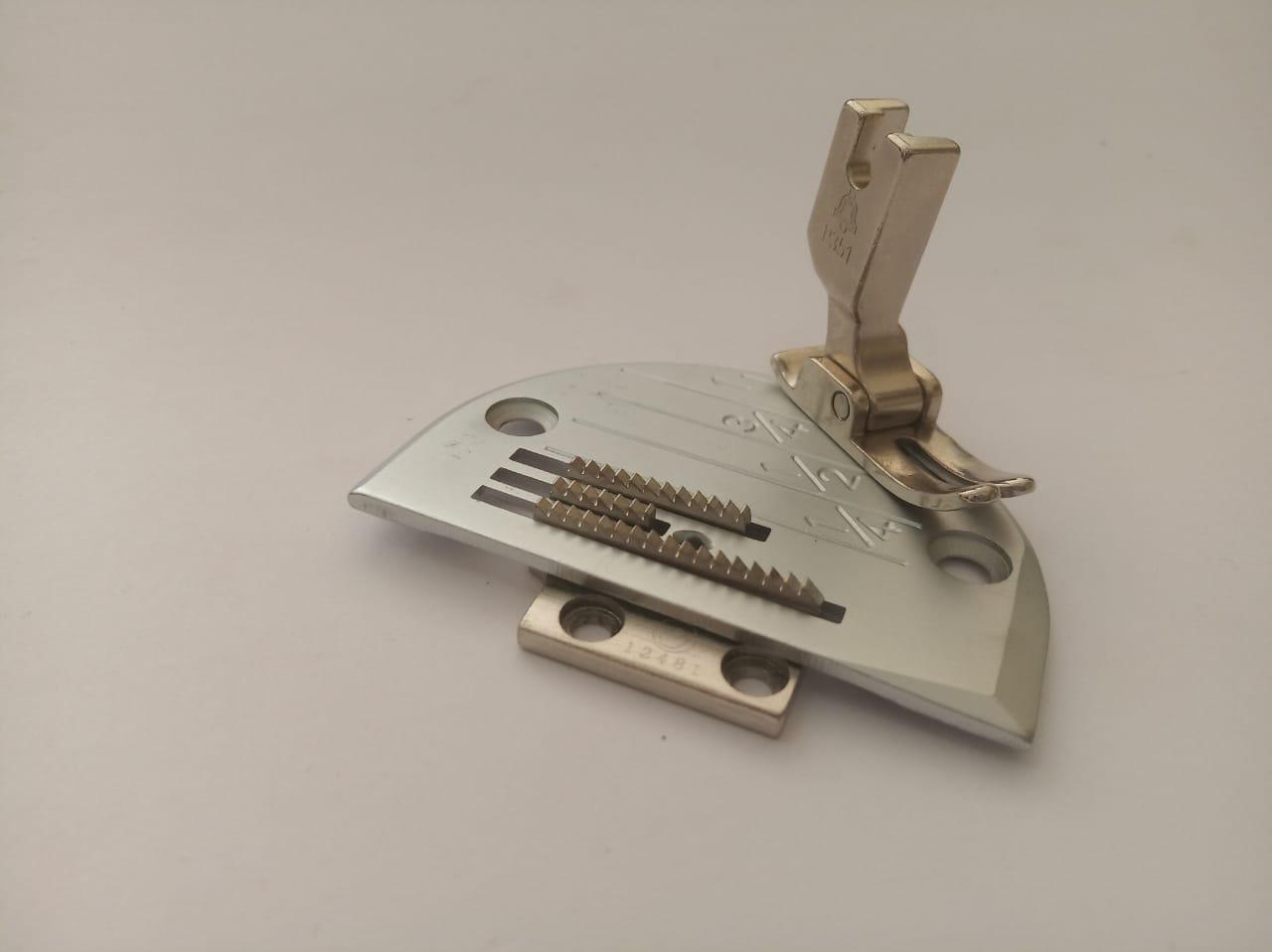 Conjunto Reta, Chapa Dente e Calcador 3 Carreiras c/ Rebaixo