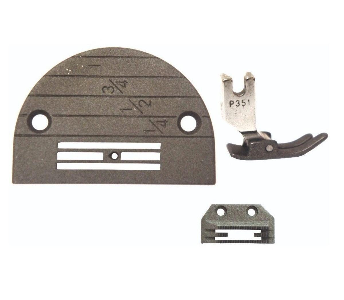Conjunto Reta, Chapa Dente e Calcador (MT18) 3 Carreiras Pesado