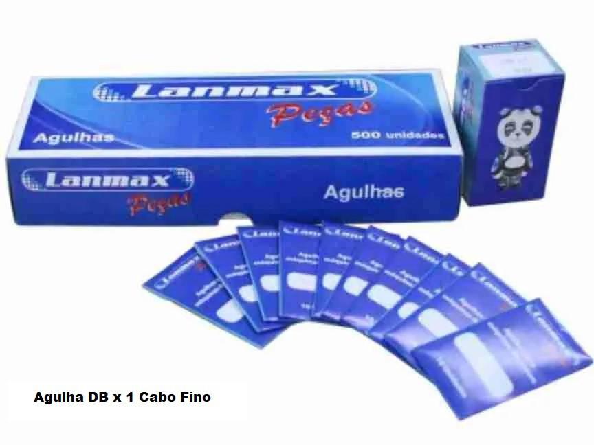 Agulha DBx1 LANMAX Cabo Fino Ponta Bola -10 agulhas