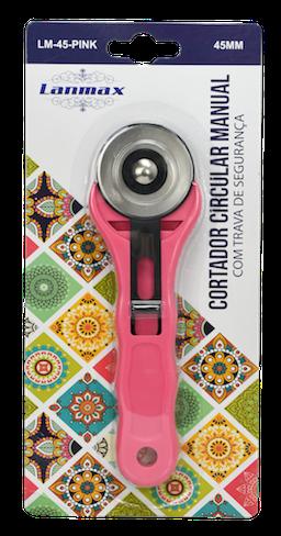 Cortador Circular Manual de 45 mm com trava de Segurança Pink