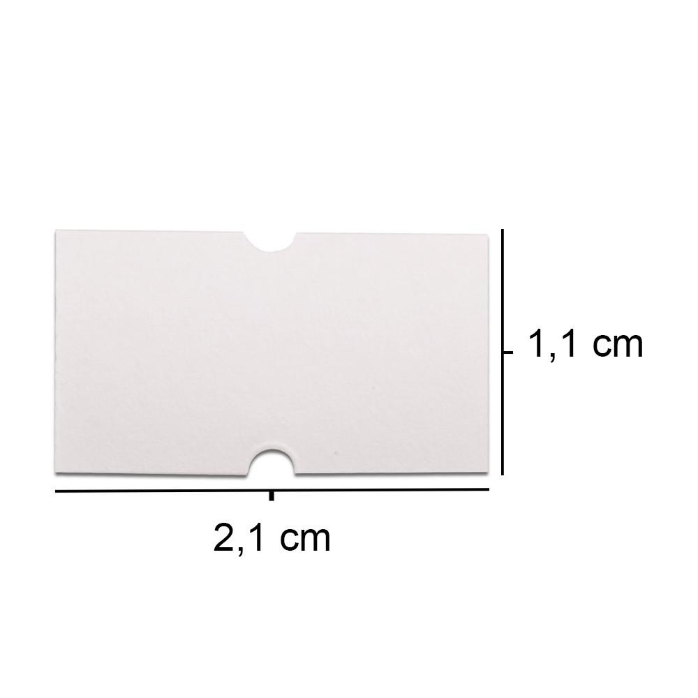 Etiquetas M-14 - Pacote com 10.000 etiquetas Brancas