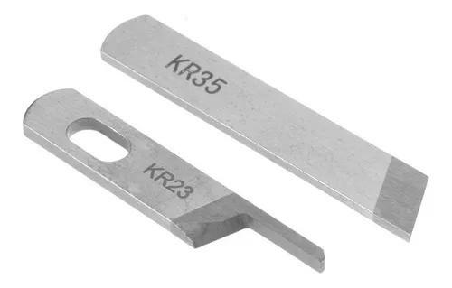 Faca para Máquina Overloque - Ponto Cadeia - Interloque Cod: KR-23 + KR-35