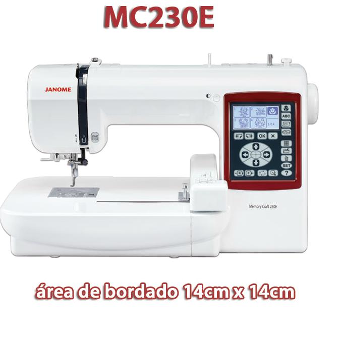 JANOME MC 230e - Máquina de Bordar 14 x 14 cm.