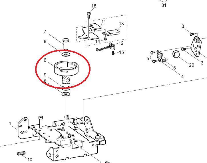 Lançadeira rotativa para máquinas Brother - PE 770, PE 810L, BP 1430, BP 2150 Código XC4141121