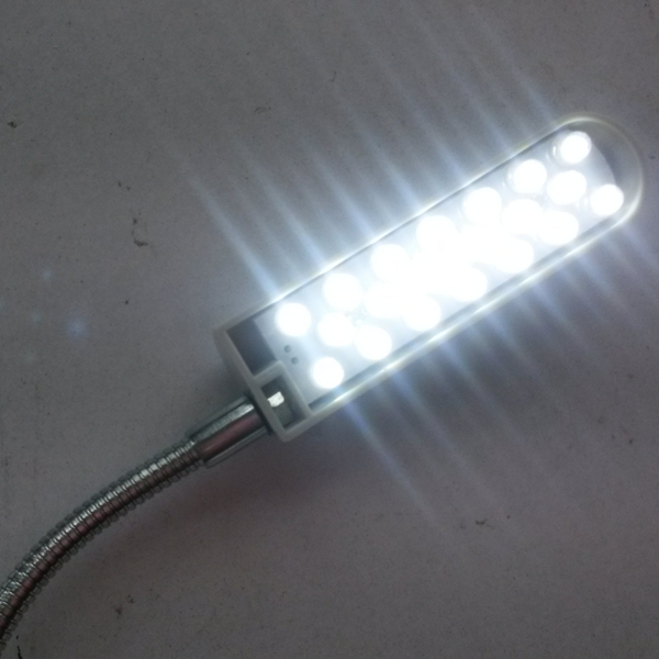 Luminária 20 Leds com Haste flexível e fixação com imã - Bivolt