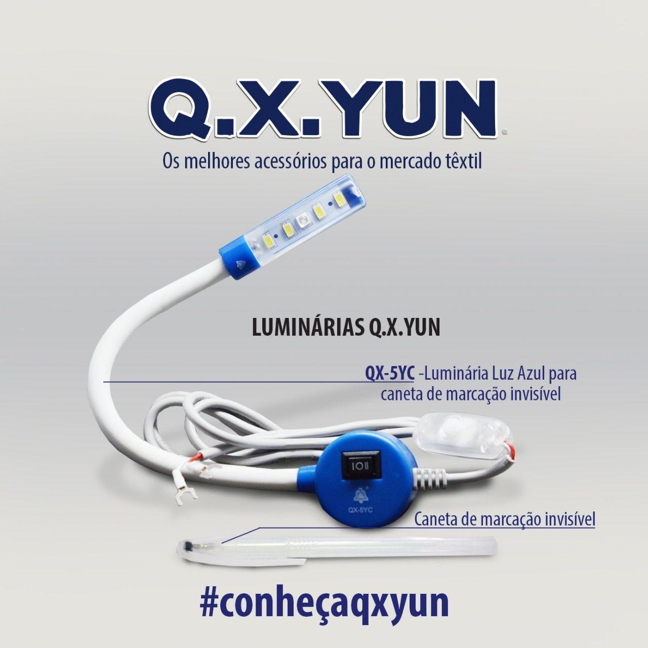 Luminária LED com LUZ AZUL e Caneta invisível que só aparece com a luz ligada - Q-X-YUN