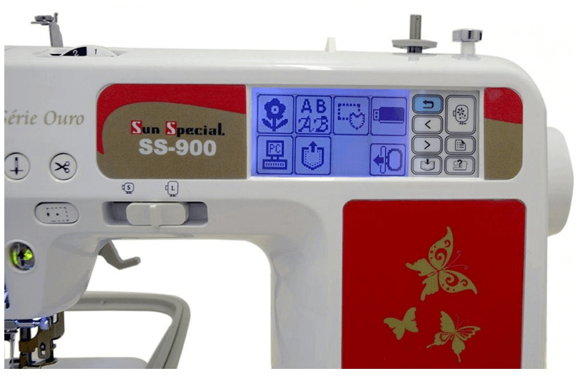 Máquina de Bordar SUN SPECIAL SS-900 Autovolt - Série Ouro