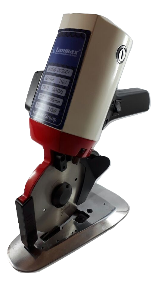 Máquina de Cortar Tecidos LANMAX com disco de 4