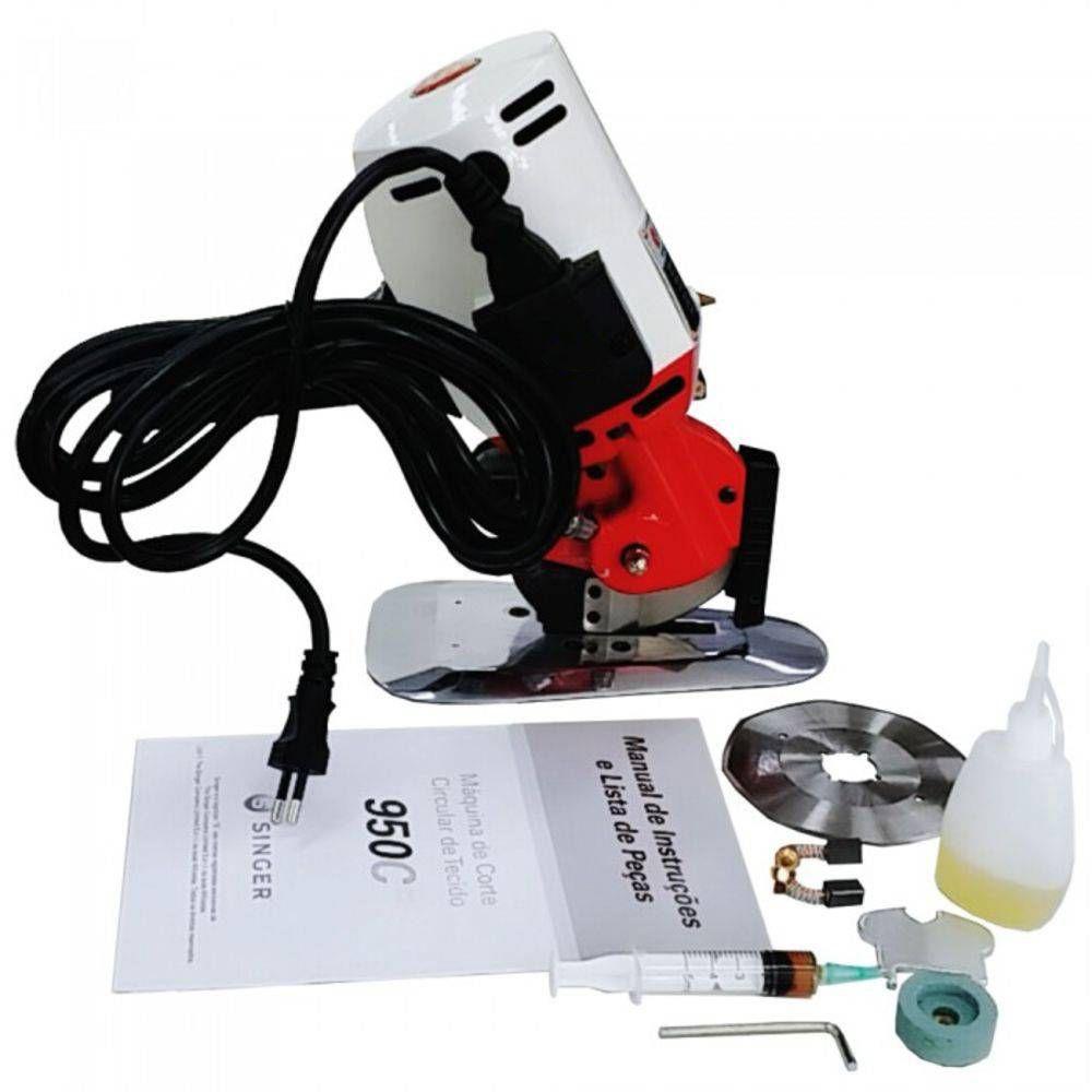 """Máquina de Cortar Tecidos SINGER 950C - Disco Octogonal 4"""""""