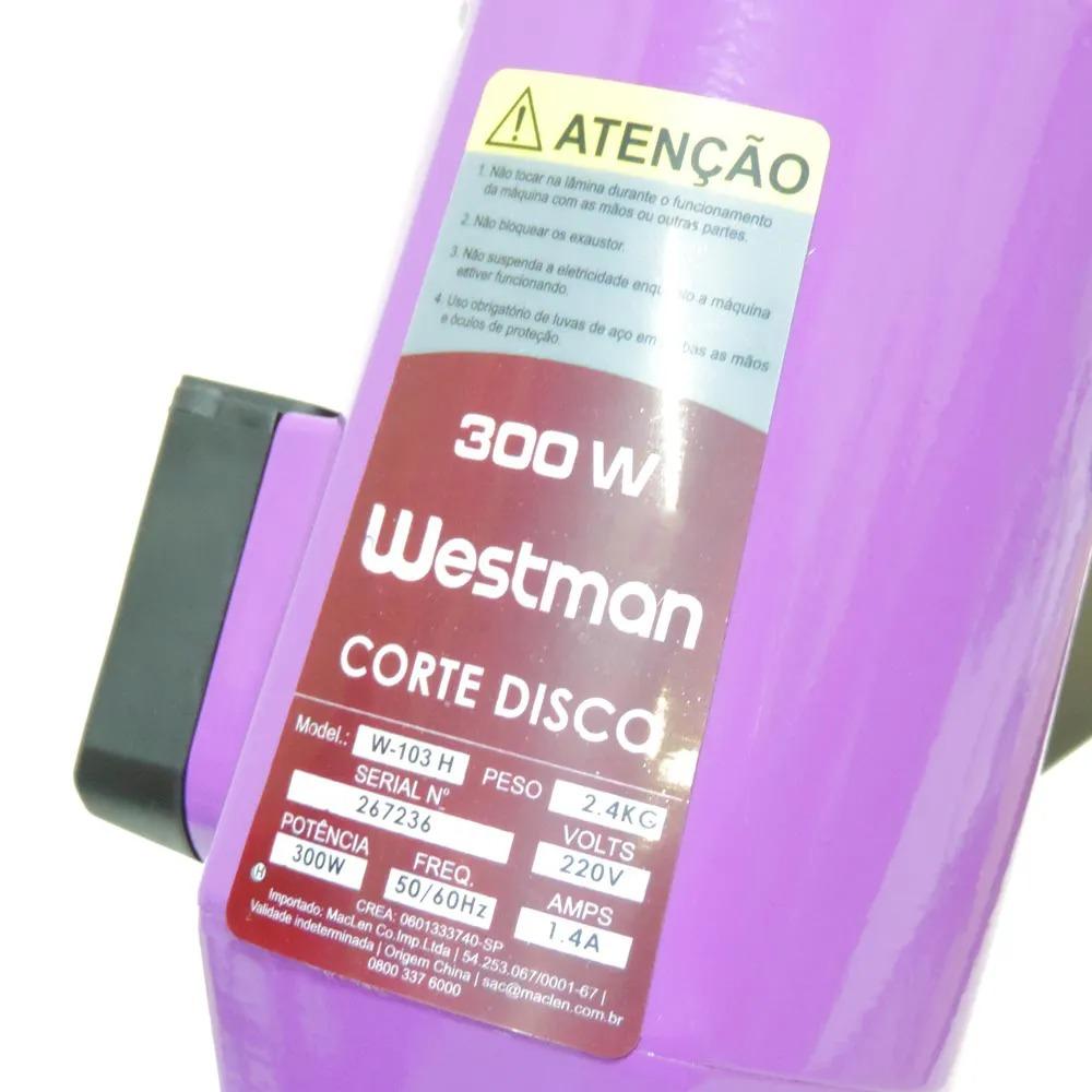 Máquina de Cortar Tecidos WESTMAN 4 polegadas 300 Watts de potência