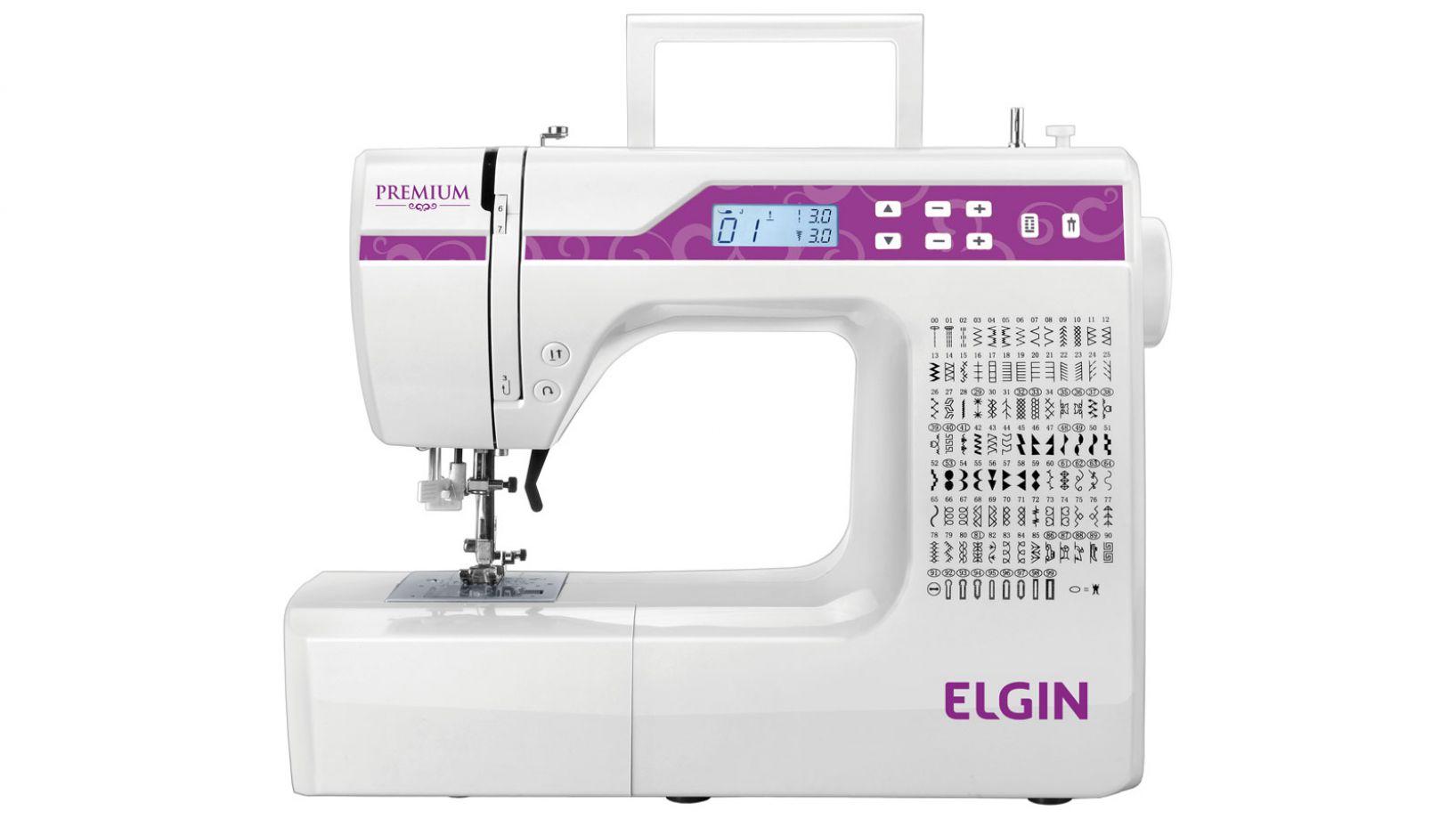 Máquina de Costura ELGIN PREMIUM JX10000 - Eletrônica com 100 Pontos