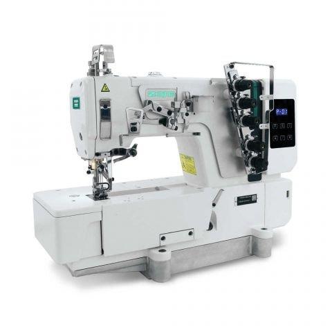 Máquina de Costura Galoneira ZOJE, base plana 3 agulhas com Motor Direct Drive C5000-364-02