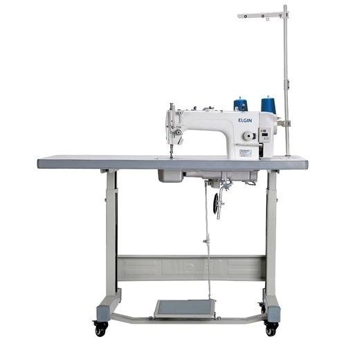 Máquina de Costura Industrial Reta ELGIN com Motor Direct Drive e parada de agulha