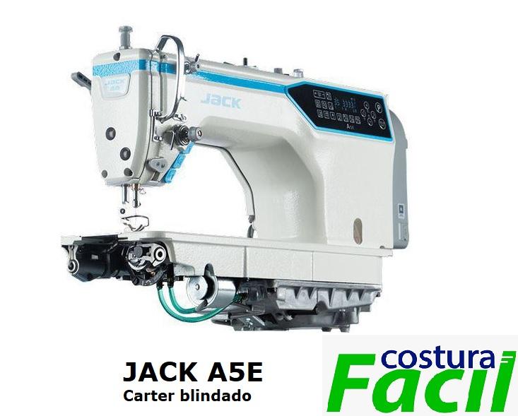 Máquina de Costura Industrial Reta JACK A5E - Eletrônica com cárter Blindado
