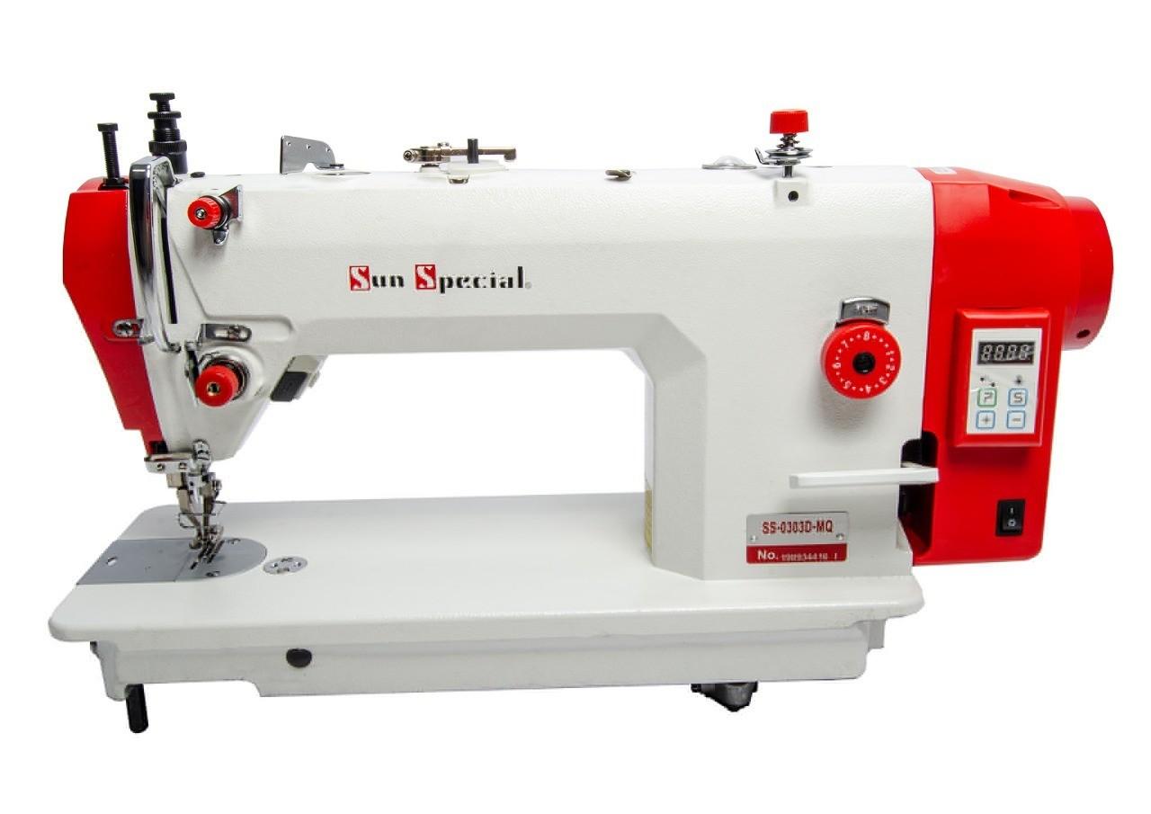 Máquina de Costura Industrial Reta Transporte Duplo SUN SPECIAL Direct Drive SS 0303MQ