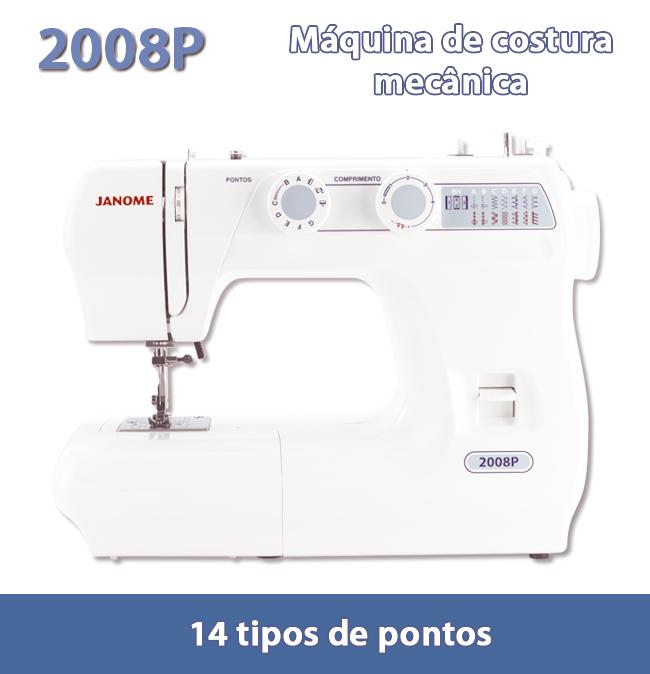 Máquina de Costura JANOME 2008P - 14 tipos de pontos