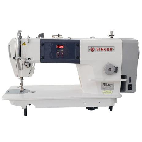 Máquina de Costura Reta SINGER 114G -Motor Direct Drive - Parada de agulha nova completa