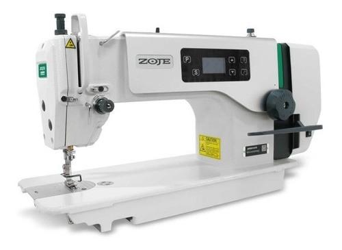 Máquina de Costura Reta ZOJE,  A6000-G Com motor Direct Drive e parada de agulha