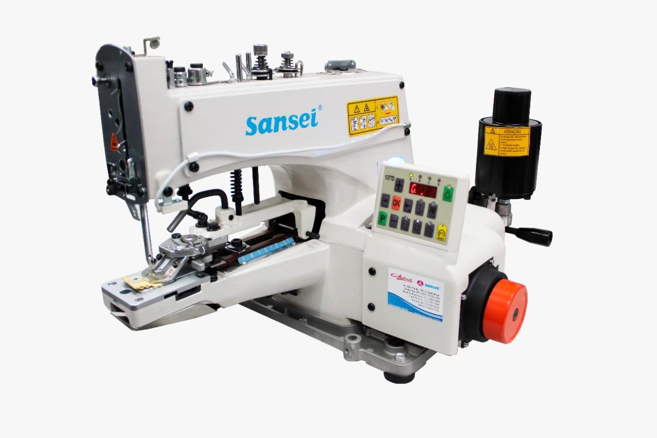 Máquina de Pregar Botão / Botoneira SANSEI 2 e 4 Fios Direct Drive SA‐G1377D