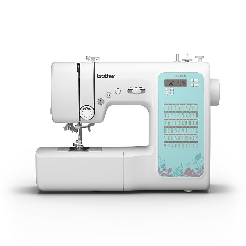 Máquina eletrônica de costura BROTHER CS 6000XLDV com 60 pontos e 7 caseados de 1 passo - Bivolt