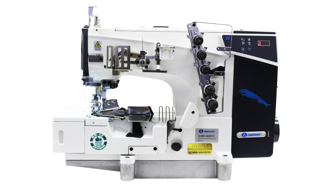 Máquina Galoneira SANSEI com Base Dupla Aberta ou Fechada 3 Agulhas Direct Drive SA-MW1-364DD-FQ