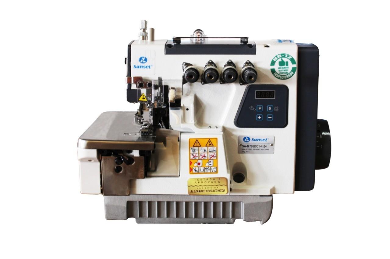 Máquina Overloque 2 Agulhas Sansei Ponto Cadeia SA-M798DC1-4-24