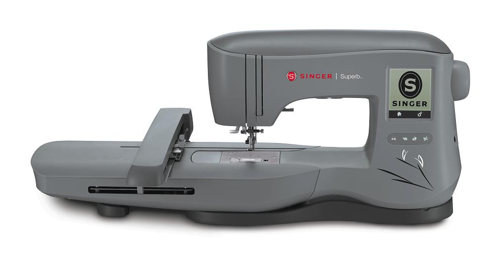 Máquina para Bordar SINGER SuperB - EM 200 - Área de bordado de 26X15 cm.