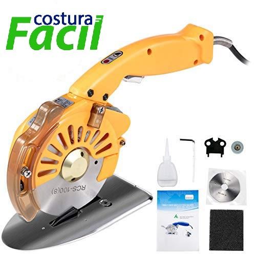 Máquina para Cortar Tecidos  com Disco de 4 polegadas, motor Direct-Drive, Luz e 5 Velocidades AOMOTO