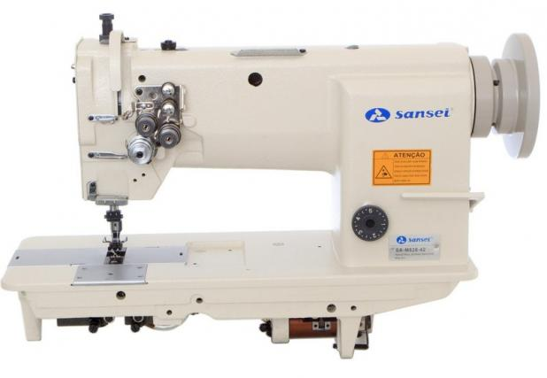 Máquina Pespontadeira fixa bobina pequena mecânica Sansei SA-m828-42 - Bivolt