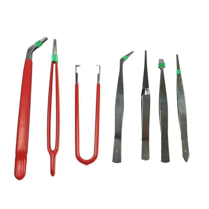 Pinças de precisão - Kit com 7 pinças para uso geral