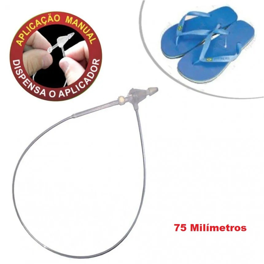 Pino Tag Trava Anel Para Etiquetas Lacre 75mm - 5.000 unidades