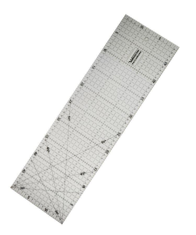 Régua Patchwork  15x60cm com ângulos de 30º, 45º e 60º graus Westpress