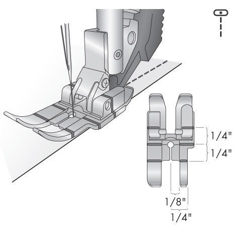 Sapatilha de 1/4 de Polegada para sistema IDT™- Original PFAFF