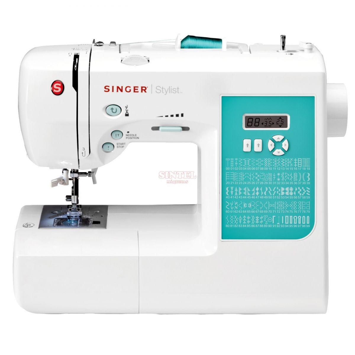 Máquina de Costura Singer Stylist 7258T - com Mesa Extensora e Botão Start/Stop