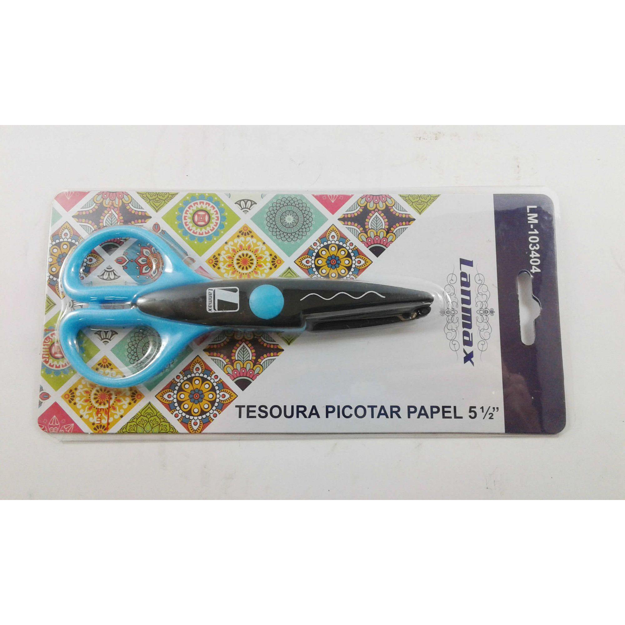 Tesoura Picotar Papel 14cm com corte ondulado