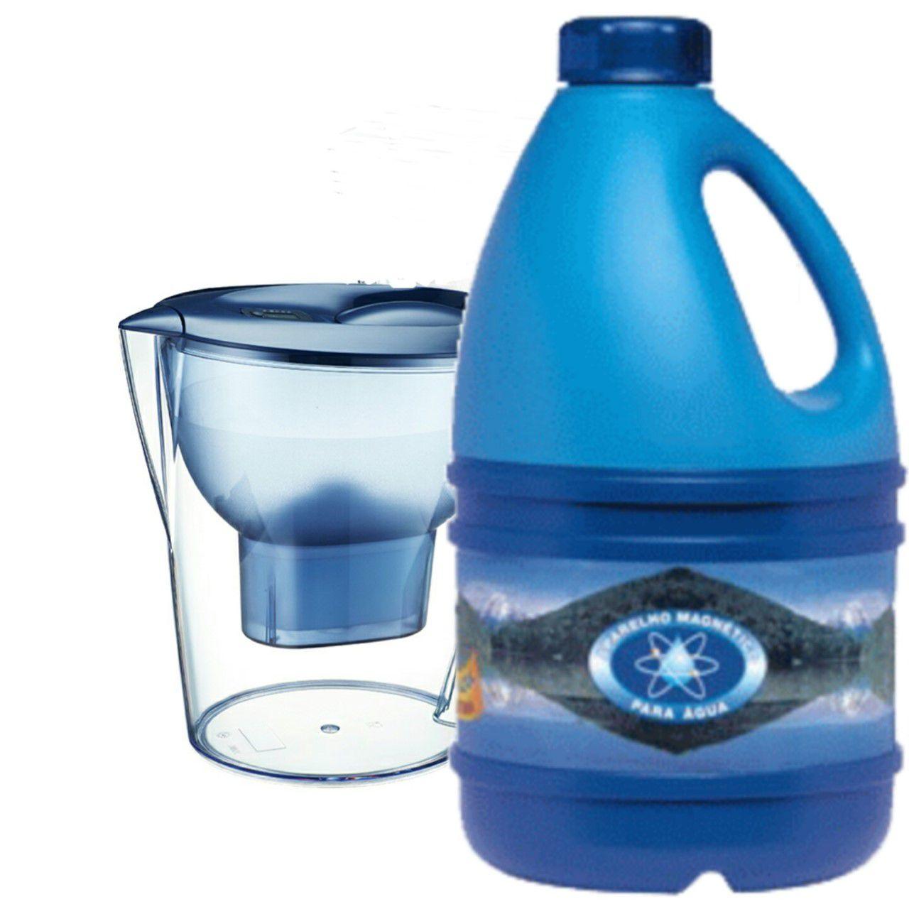 Jarra Azul Magnética + Purificador Portátil de Brinde