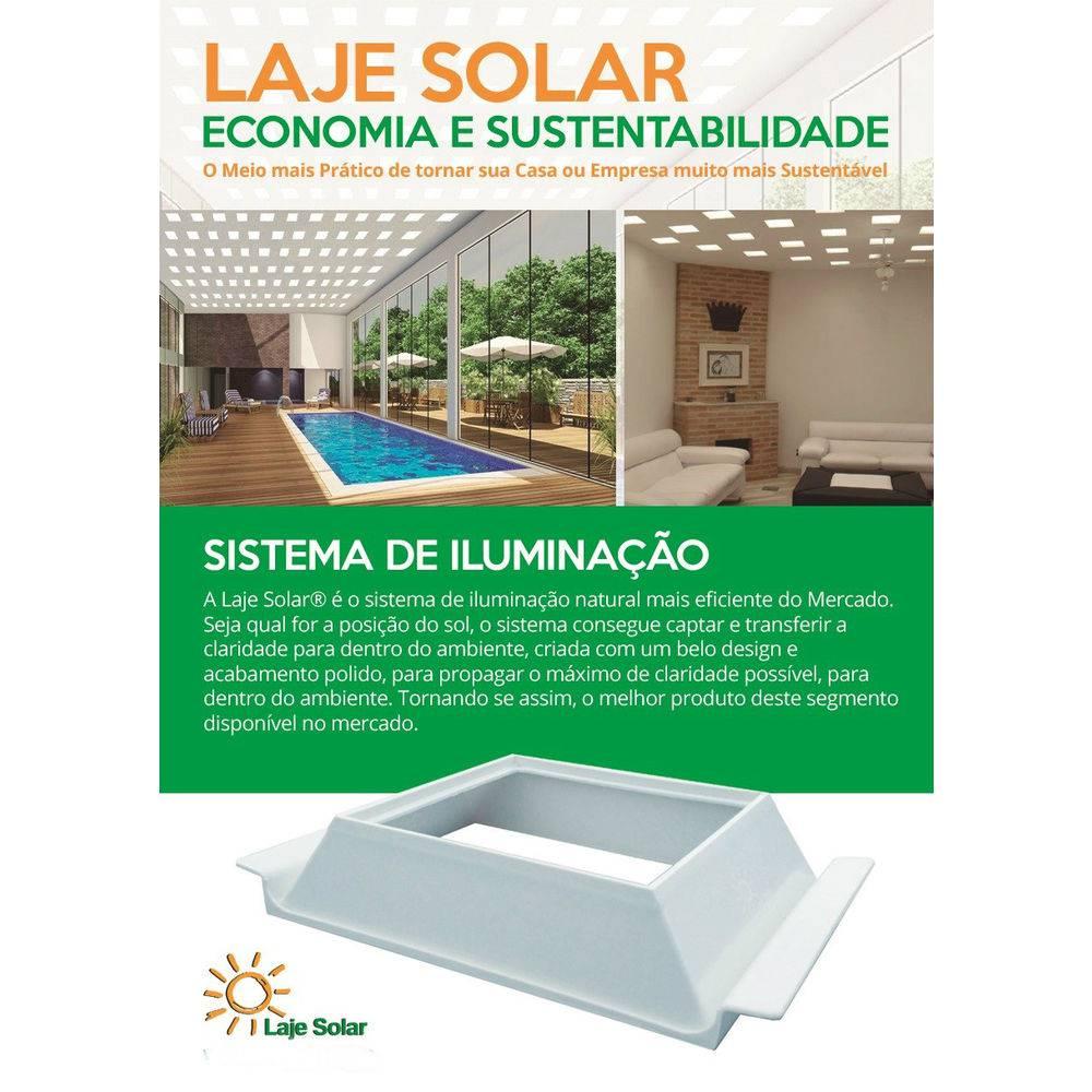 Suporte Laje Solar Ecolaje C/ Bloco Vidro Incolor ( Kit 01 )  - MagnePhoton