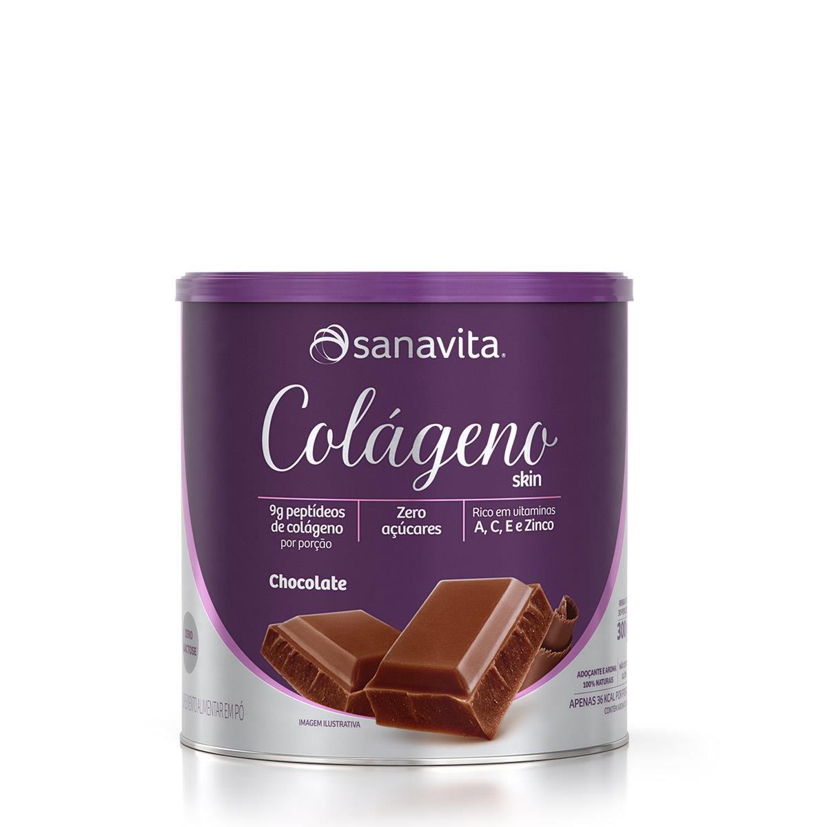COLÁGENO SKIN CHOCOLATE 300g - Sanavita