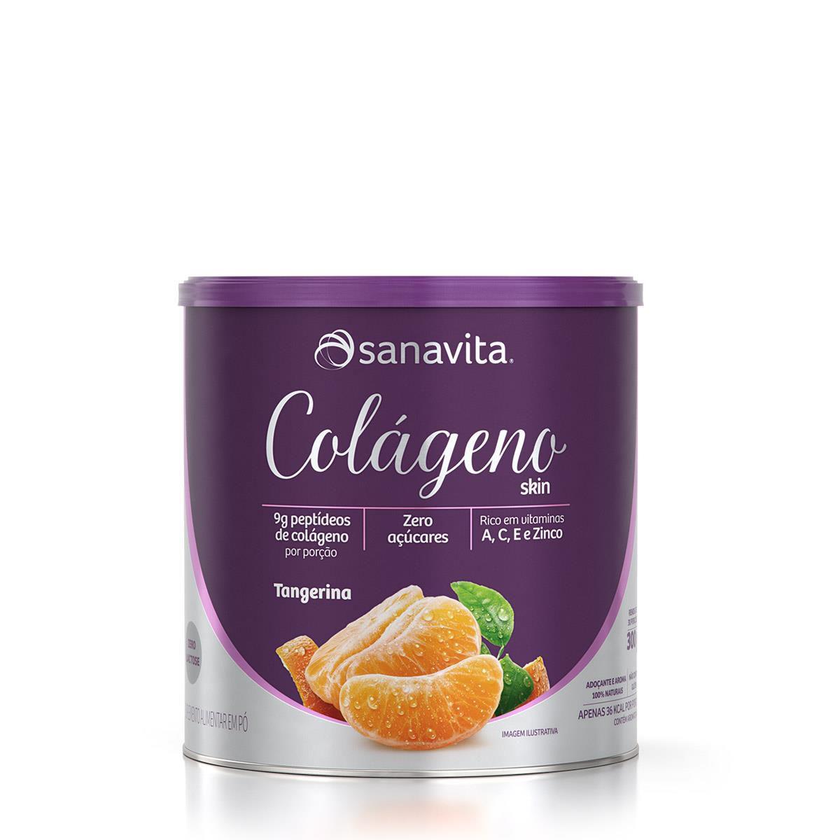 COLÁGENO SKIN TANGERINA 300g - Sanavita