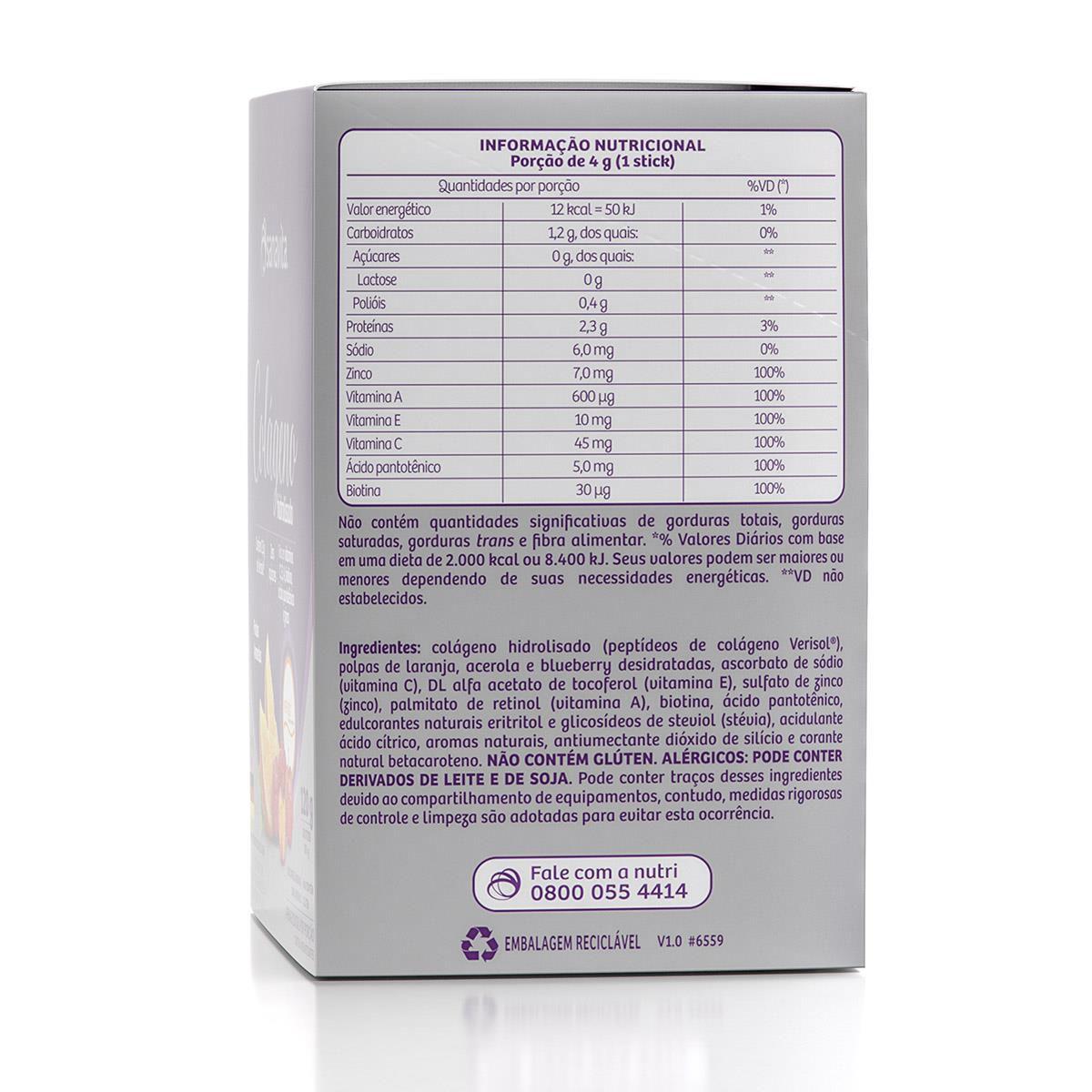 COLÁGENO HIDROLISADO VERISOL FRUTAS AMARELAS 120g (30 STICKS)  – Sanavita