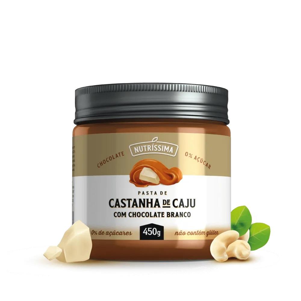 CREME DE CASTANHA DE CAJU CHOCOLATE BRANCO 450G - NUTRISSIMA